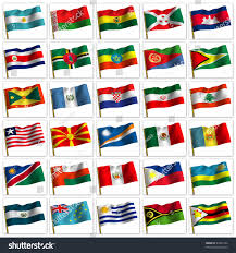 Countries Of The World Flags Collage Flags Different Countries World Icon Stock Illustration