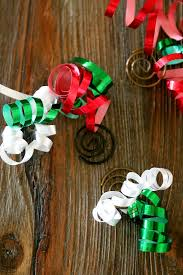 paper clip and ribbon diy ornaments