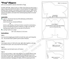 sewing letter templates free slipper sewing patterns and ideas free frog slipper pattern screen shot