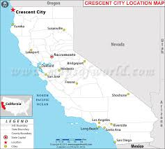 map of cities in california is crescent city california