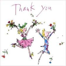 quentin thank you cards pack of 10 with flowers