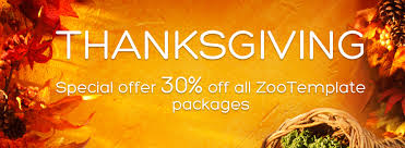 thanksgiving special offer 30 all zootemplate packages