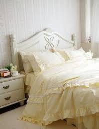 135 shabby and elegant off white lace white ruffle duvet cover