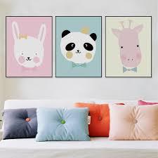 2017 northern european style cartoon animal head children room