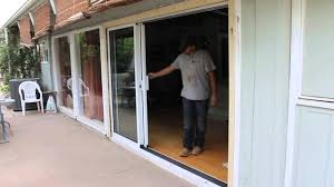 Sliding French Patio Doors With Screens Slide Right 3 Panel Stacking Door Youtube
