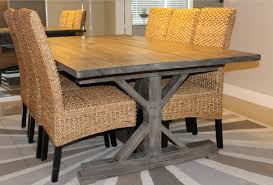 weathered gray fancy x farmhouse table with extensions do it