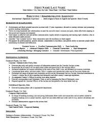 Resume Examples Administration by Consular Or Administrative Assistant Resume Template Premium