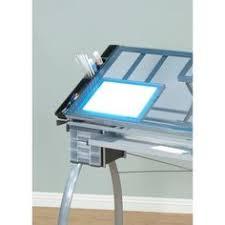 Drafting Table Pad 176 76degree Tilt Studio Designs Aries Glass Top