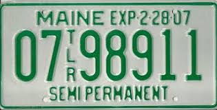 Maine State Vanity Plates Semi Permanent Trailer Plates Maine License Plate Gallery