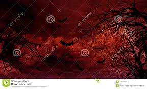grunge halloween background with spooky trees stock illustration