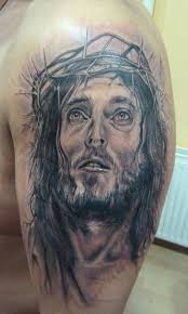 jesus head and praying hands tattoo designs photo 3 photo