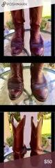 dan post deep cherry leather western cowboy boots gorgeous deep