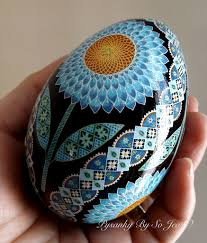 ukrainian easter eggs blue sunflowers pysanka pysanky ukrainian easter egg flickr