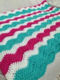 magenta and turquoise crochet blanket baby baby blanket