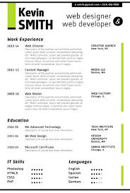 web designer resume template cover letter portfolio