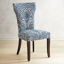 Birch Dining Chairs Carmilla Blue Damask Dining Chair With Espresso Wood Pier 1 Imports