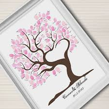tree signing for wedding aliexpress buy fingerprint signature canvas painting wedding