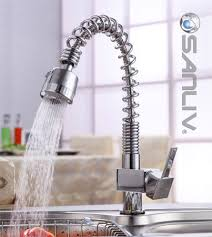 spiral kitchen faucet single handle spiral pull out kitchen tap pullout spray