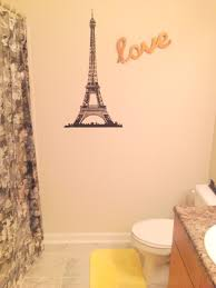 ideas for bathroom decorating theme with modern eifil tower