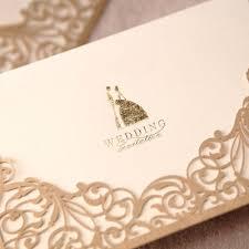 Bride Cards Bride U0026 Groom Style Wrap U0026 Pocket Invitation Cards Set Of 50
