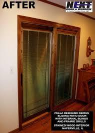 Wood Patio Doors With Built In Blinds by Patio Doors Photo Gallery Next Door And Window