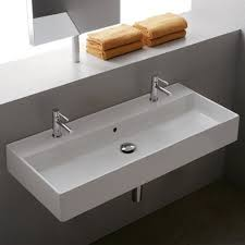 Trough Bathroom Sink With Two Faucets by Beautiful Trough Bathroom Sink With Two Faucets 2 On 1 View Full