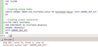 Tsql Alter Table Add Column Difference Between Sql Server Unique Indexes And Unique Constraints