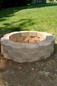 Firepit Brick Diy Outdoor Brick Pit Fireplace Design Ideas