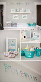 How To Decorate A Nursery For A Boy Gray And Aqua Nursery I M In With These Colors For