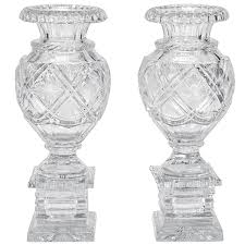 Cut Crystal Vases Antique Antique Blue Opaline Bristol Glass Mantle Vases From 1000 Images