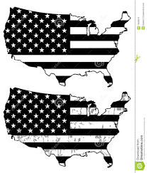 Black And White American Flag Usa Black And White Flags Stock Vector Image Of Celebration