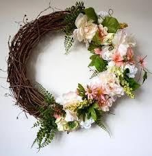 summer silk flower wreath grapevine wreath summer decor fall