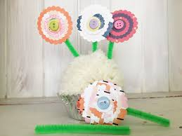 paper flowers kids crafts give a a blog