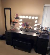 Table Vanity Mirror Vintage Black Makeup Vanity Decor Homes