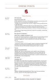 Hr Resume Templates Hr Generalist Resume Format Sample Hr Resumes Sr Hr Generalist