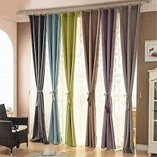 84 Inch Curtains Ffmode Solid Color Blackout Drapes Curtains Grommet Top 42 Inch