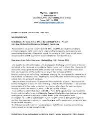 police detective resume resume cappiello civil and military