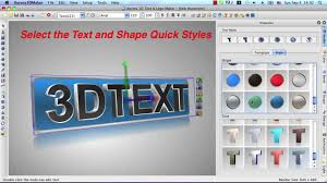 aurora 3d maker for mac create 3d text logo title animation