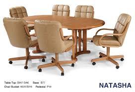 Swivel Tilt Dining Chairs by Natasha Swivel Tilt Caster Wood Dining Set Douglas Casual Living