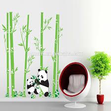 stickers panda chambre bébé mignon panda et bébé panda manger bambous wall sticker pour