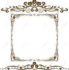decorative border and ornaments royalty free cliparts vectors