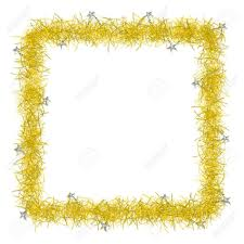 christmas tinsel gold christmas tinsel texture background blank for text stock