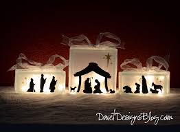 kraftyblok nativity scene with vinyl decals tutorial gift ideas