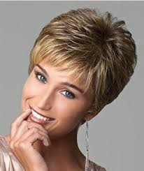 hairstyles for short highlighted blond hair new highlight blonde female haircut short straight hair wig
