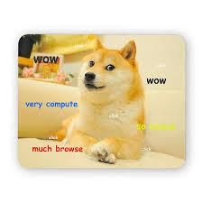 Meme Mouse Pad - doge wow funny desk mouse pad meme mouse pad comptuer