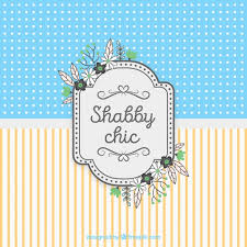 shabby chic card background vector free download