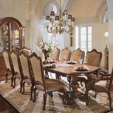 Where To Buy Dining Table And Chairs Universal Furniture Villa Cortina Double Pedestal Rectangular
