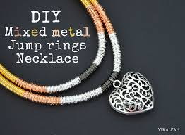 metal ring necklace images Vikalpah mixed metal jump rings necklace diy jpg