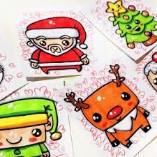 draw easy snowman christmas scene cute animal