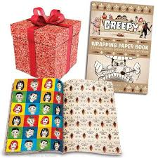 wrapping paper sheets creepy wrapping paper book archie mcphee co